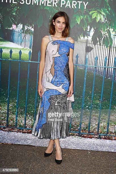 Alexa Chung attends the Serpentine Summer Party at The Serpentine Gallery on July 2 2015 in London England