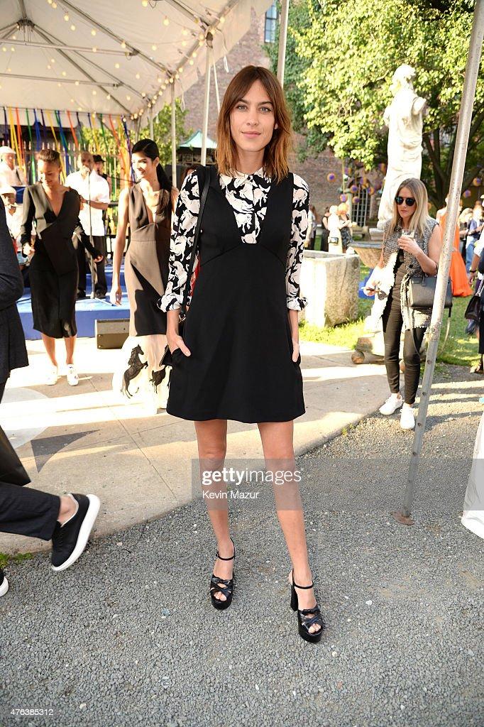 Alexa Chung attends the Stella McCartney Spring 2016 Resort Presentation on June 8 2015 in New York City