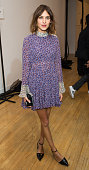 Alexa Chung attends the Topshop Unique show during London Fashion Week Fall/Winter 2015/16 on February 22 2015 in London United Kingdom