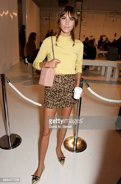 Alexa Chung attends the Topshop Unique SS15 Front Row on September 14 2014 in London England