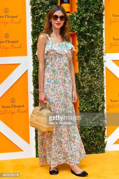 Alexa Chung attends the Veuve Clicquot Gold Cup Final at Cowdray Park Polo Club on July 20 2014 in Midhurst England