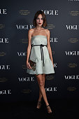 Alexa Chung attends the Vogue 95th Anniversary Party on October 3 2015 in Paris France