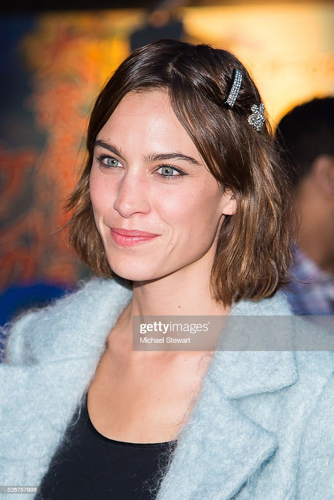 Alexa Chung attends the Vogue.com Met Gala cocktail party at Search & Destroy on April 30, 2016 in New York City.