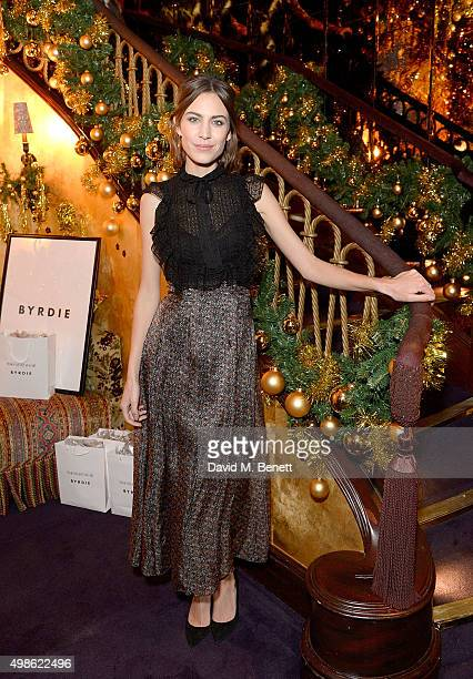 Alexa Chung attends the WhoWhatWear UK Launch at Loulou's on November 24 2015 in London England