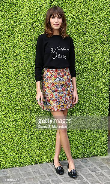 Alexa Chung hosts the launch of the Annual British Designers Collective at Bicester Village on March 21 2012 in Bicester England