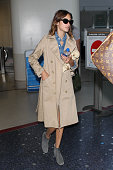 Alexa Chung is seen at LAX on July 21 2015 in Los Angeles California