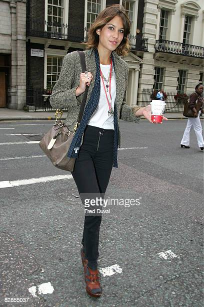 Alexa Chung is seen during London Fashion Week on September 17 2008 in London England