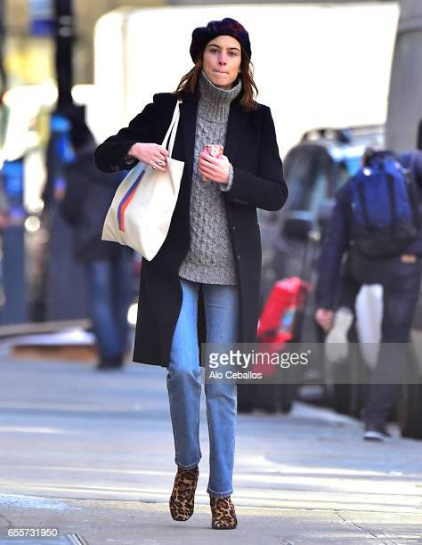 Alexa Chung is seen in Soho on March 20 2017 in New York City