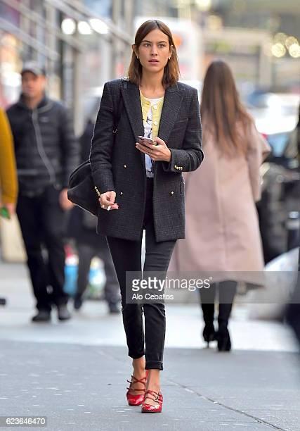 Alexa Chung is seen in Soho on November 16 2016 in New York City