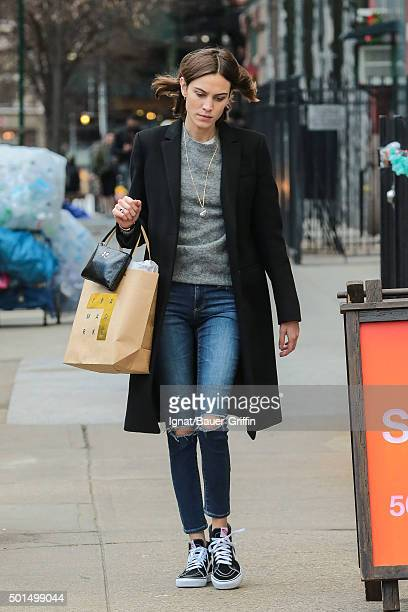 Alexa Chung is seen on December 15 2015 in New York City