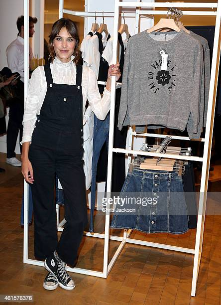 Alexa Chung launches her new jeans collection 'Alexa Chung x AG' at Selfridges on January 15 2015 in London England