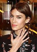 Alexa Chung launches The Alexa Edition by Nails INC at Selfridges on November 20 2014 in London England