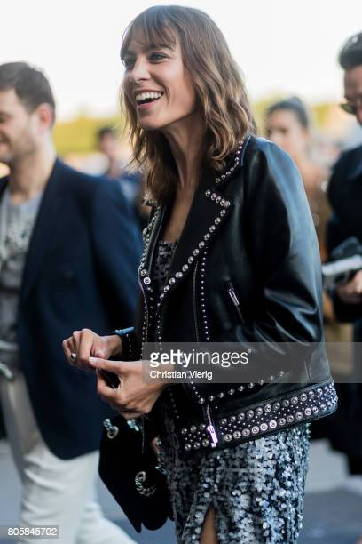 Alexa Chung outside Miu Miu Cruise Collection during Paris Fashion Week Haute Couture Fall/Winter 20172018 Day One on July 2 2017 in Paris France
