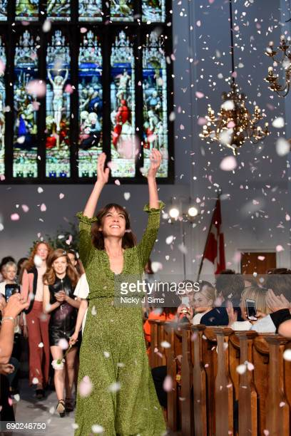 Alexa Chung presents her collection at the ALEXACHUNG London Launch and Collection Reveal on May 30 2017 in London England