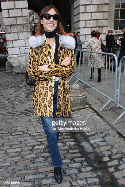 Alexa Chung seen arriving at Somerset House on February 20 2015 in London England
