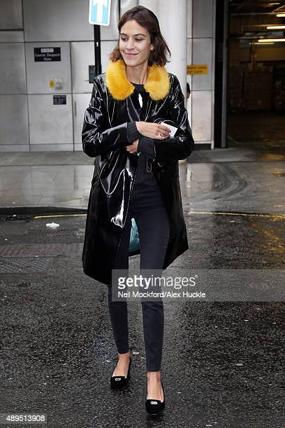 Alexa Chung seen at BBC Radio One on September 22 2015 in London England