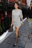 Alexa Chung seen attending the Mulberry fashion show at Claridges Hotel on September 18 2012 in London England