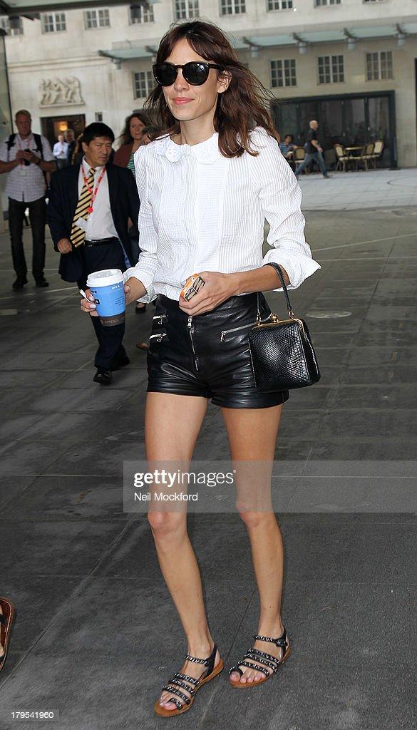 Alexa Chung seen leaving BBC Radio One on September 5, 2013 in London, England.