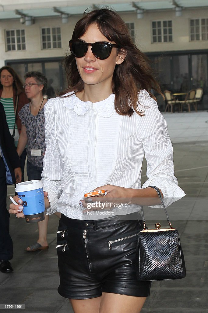 <a gi-track='captionPersonalityLinkClicked' href=/galleries/search?phrase=Alexa+Chung&family=editorial&specificpeople=3141821 ng-click='$event.stopPropagation()'>Alexa Chung</a> seen leaving BBC Radio One on September 5, 2013 in London, England.
