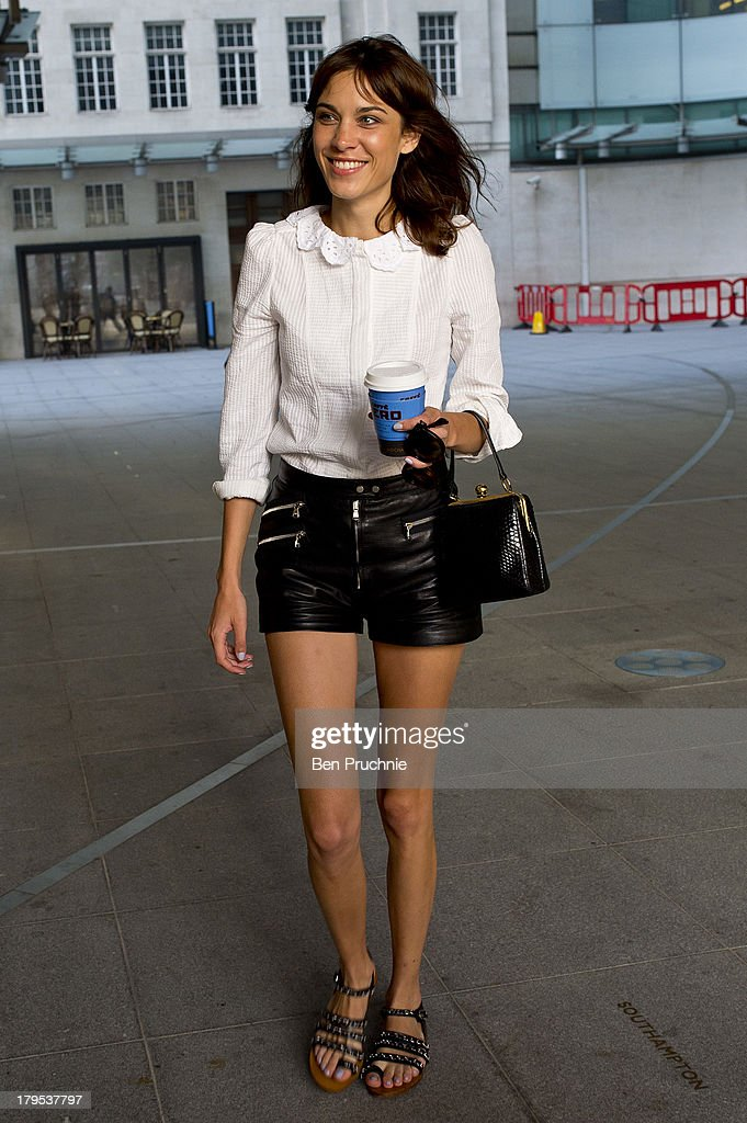 Alexa Chung sighted at BBC Radio Studios on September 5, 2013 in London, England.