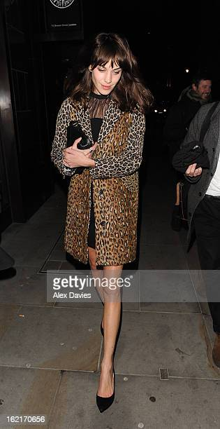 Alexa Chung sighting on February 20 2013 in London England