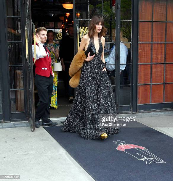 Alexa Chung television presenter and contributing editor at British Vogue is seen departing the Bowery Hotel on May 1 2017 in New York City