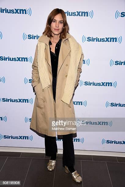Alexa Chung visits the SiriusXM Studios on February 3 2016 in New York City