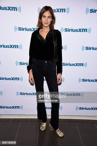 Alexa Chung visits the SiriusXM Studios on February 3 2016 in New York City