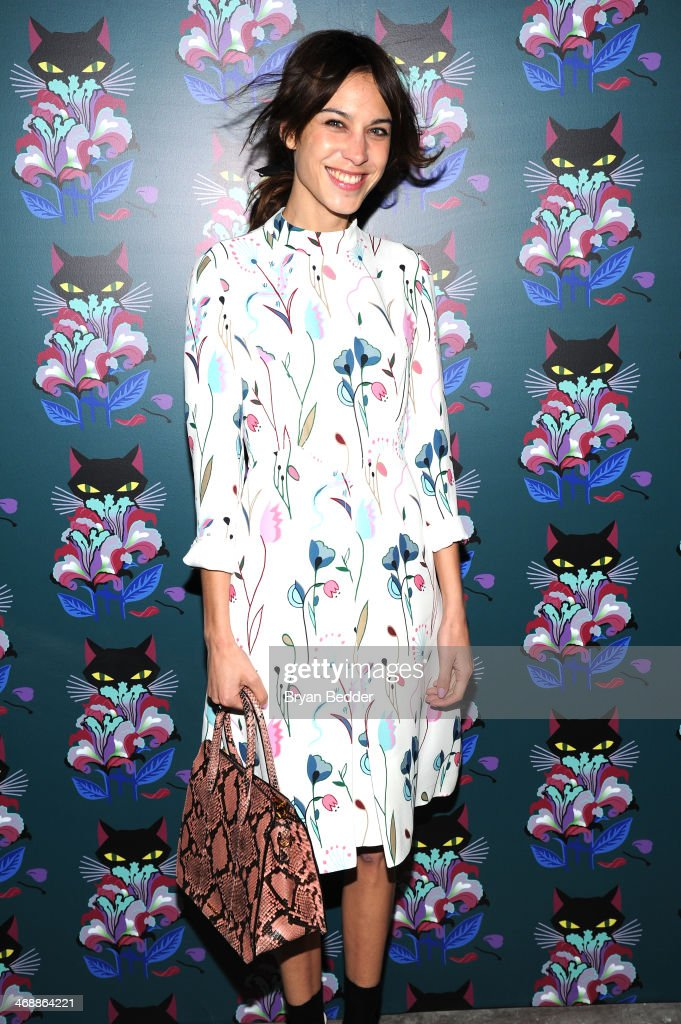 <a gi-track='captionPersonalityLinkClicked' href=/galleries/search?phrase=Alexa+Chung&family=editorial&specificpeople=3141821 ng-click='$event.stopPropagation()'>Alexa Chung</a> wearing Miu Miu at the Miu Miu Women's Tales 7th Edition - 'Spark & Light' Screening - Arrivals at Diamond Horseshoe on February 11, 2014 in New York City.