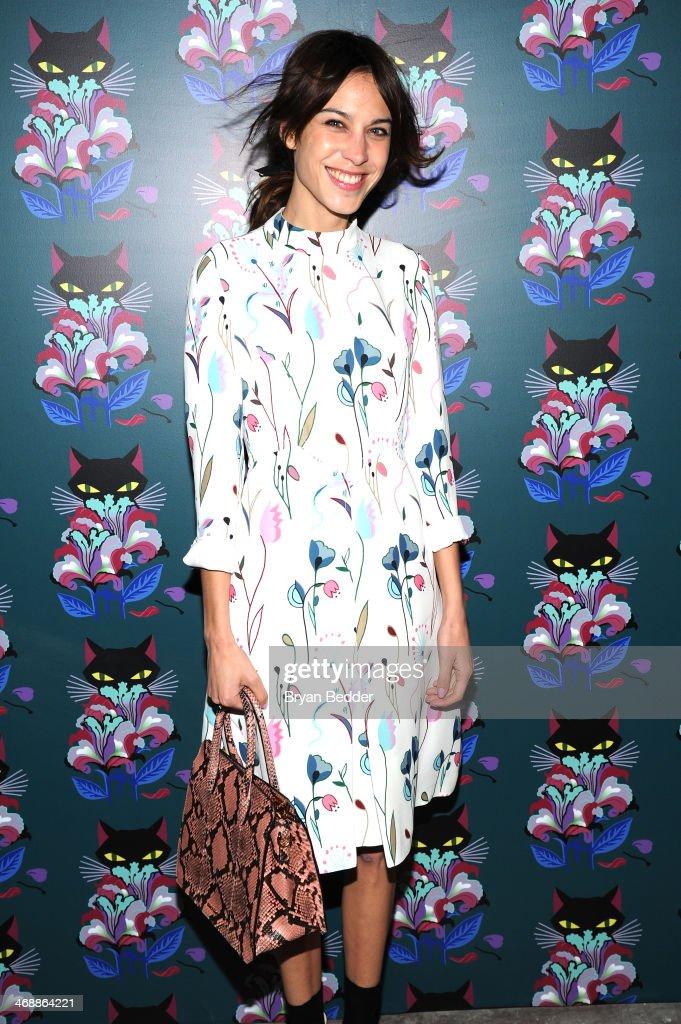 Alexa Chung wearing Miu Miu at the Miu Miu Women's Tales 7th Edition - 'Spark & Light' Screening - Arrivals at Diamond Horseshoe on February 11, 2014 in New York City.