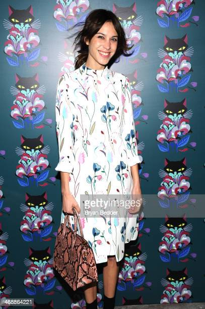 Alexa Chung wearing Miu Miu at the Miu Miu Women's Tales 7th Edition 'Spark Light' Screening Arrivals at Diamond Horseshoe on February 11 2014 in New...