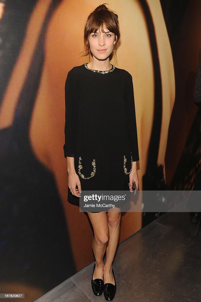 Alexa Chung wearing Miu Miu attends Catherine Martin And Miuccia Prada Dress Gatsby Opening Cocktail on April 30 2013 in New York City