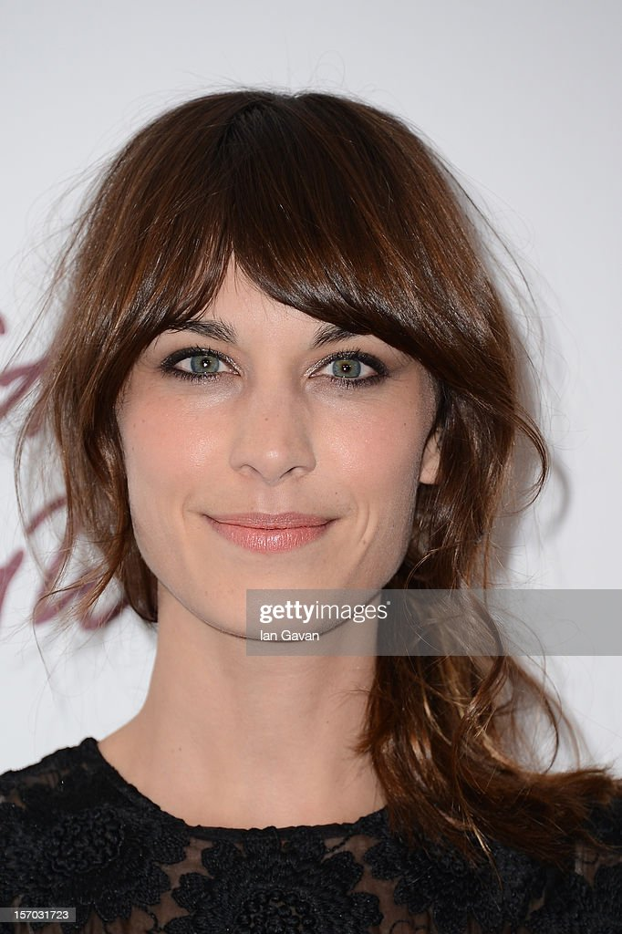 Alexa Chung, winner of the British Style award supported by Vodafone, poses in the awards room at the British Fashion Awards 2012 at The Savoy Hotel on November 27, 2012 in London, England.