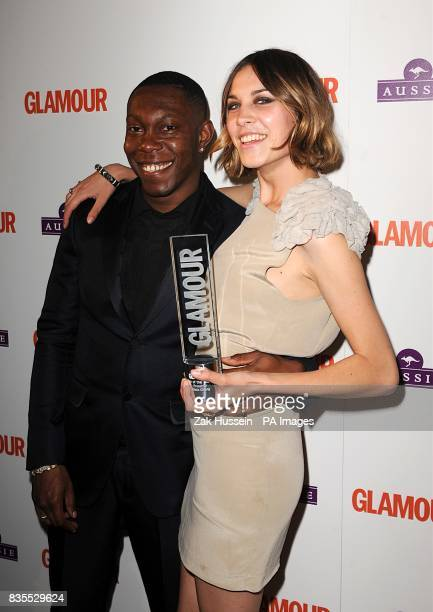 Alexa Chung with the award for Presenter and Dizzee Rascal at the Glamour Woman of the Year Awards 2009 at Berkeley Square Gardens W1