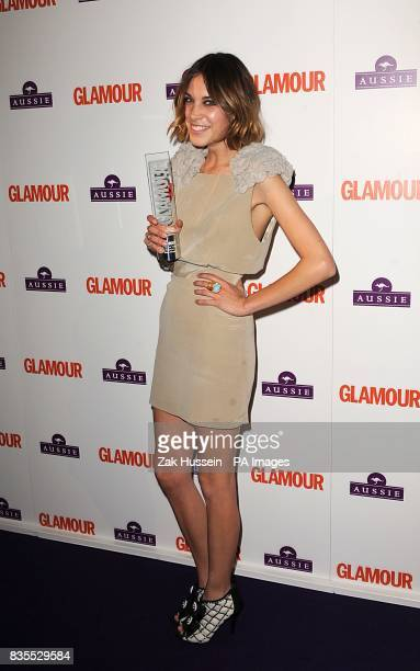 Alexa Chung with the award for Presenter at the Glamour Woman of the Year Awards 2009 at Berkeley Square Gardens W1
