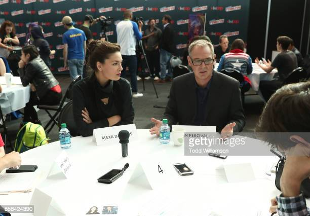 Alexa Davalos and Dan Percival are interviewed at 'The World of Philip K Dick' The Man in the High Castle and Philip K Dick's Electric Dreams Press...