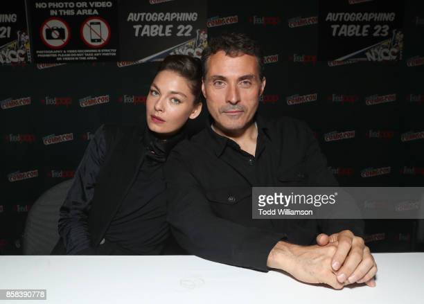 Alexa Davalos and Rufus Sewell attend 'The World of Philip K Dick' The Man in the High Castle and Philip K Dick's Electric Dreams Autograph Signing...