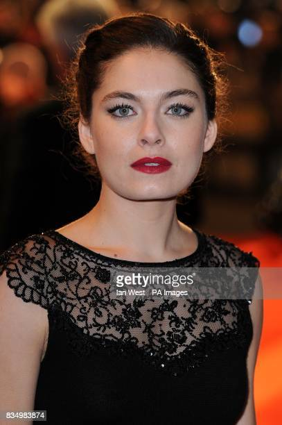 Alexa Davalos arrives for the European premiere of Defiance at the Odeon Leicester Square WC2