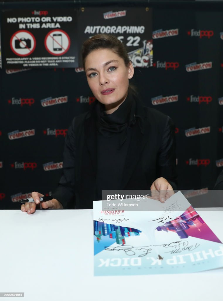 Alexa Davalos attends 'The World of Philip K. Dick' - The Man in the High Castle and Philip K. Dick's Electric Dreams Autograph Signing at The Jacob K. Javits Convention Center on October 6, 2017 in New York City.