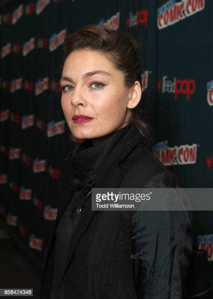 Alexa Davalos attends 'The World of Philip K Dick' The Man in the High Castle and Philip K Dick's Electric Dreams Press Room at The Jacob K Javits...