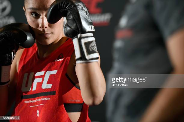 Alexa Grasso of Mexico holds an open workout for fans and media at Henke Pillot on February 2 2017 in Houston Texas