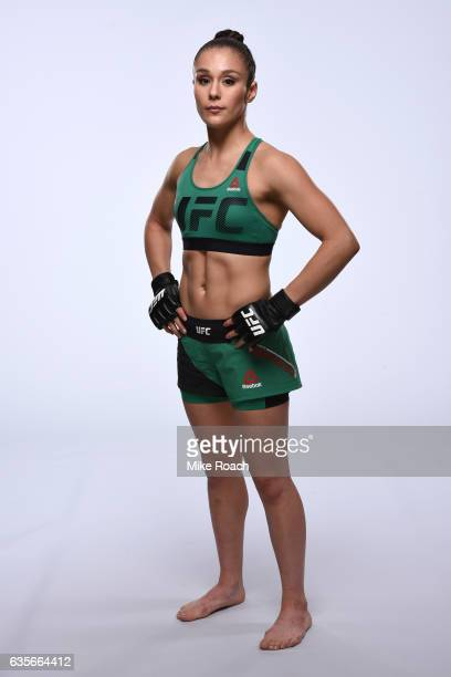 Alexa Grasso of Mexico poses for a portrait during a UFC photo session at the Sheraton North Houston at George Bush Intercontinental on February 1...