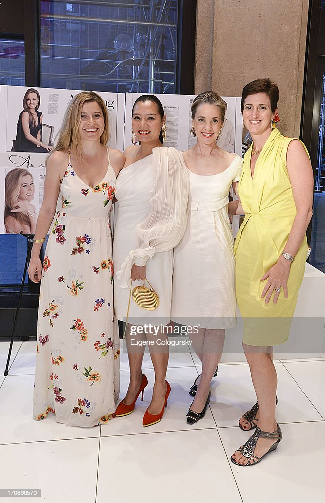 Alexa Hirschfeld, Hong Thaimee, Maureen Footer and Suzanne Ruffa attend the Gotham Magazine Celebration of Its Featured Amazing Faces Of NYC Beauties on June 19, 2013 in New York City.