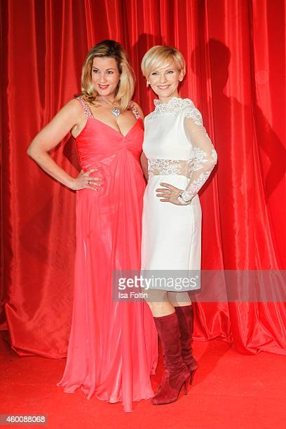 Alexa Maria Surholt and Andrea Kathrin Loewig attend the Ein Herz fuer Kinder Gala 2014 at Tempelhof Airport on December 6 2014 in Berlin Germany