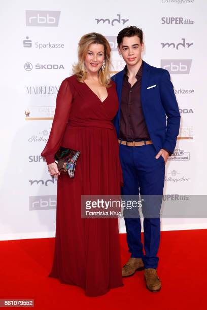 Alexa Maria Surholt and her son Artur Surholt attend the Goldene Henne on October 13 2017 in Leipzig Germany