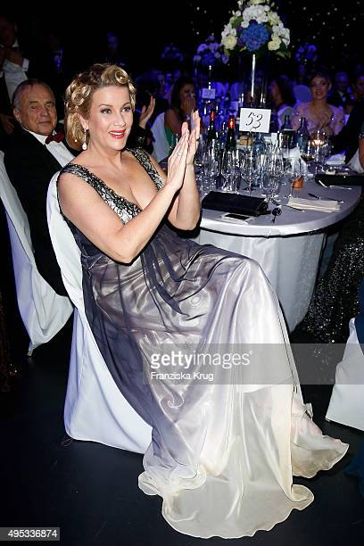 Alexa Maria Surholt attends the Leipzig Opera Ball 2015 on October 31 2015 in Leipzig Germany