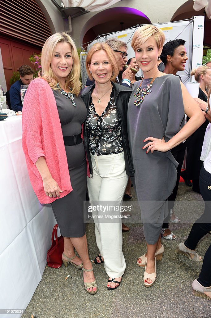 Alexa Maria Surholt, Marion Kracht and Wolke Hegenbarth attend the Bavaria Reception at the Kuenstlerhaus as part of the Munich Film Festival 2014 on July 1, 2014 in Munich, Germany.