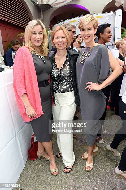 Alexa Maria Surholt Marion Kracht and Wolke Hegenbarth attend the Bavaria Reception at the Kuenstlerhaus as part of the Munich Film Festival 2014 on...