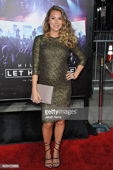 Alexa PenaVega arrives at the Premiere Of Pure Flix Entertainment's 'Hillsong Let Hope Rise' at Mann Village Theatre on September 13 2016 in Westwood...