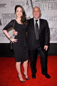 Alexa Ray Joel and Billy Joel attend the 42nd annual Songwriters Hall of Fame Induction Ceremony at The New York Marriott Marquis on June 16 2011 in...